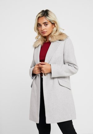 MONICA COLLAR - Classic coat - grey
