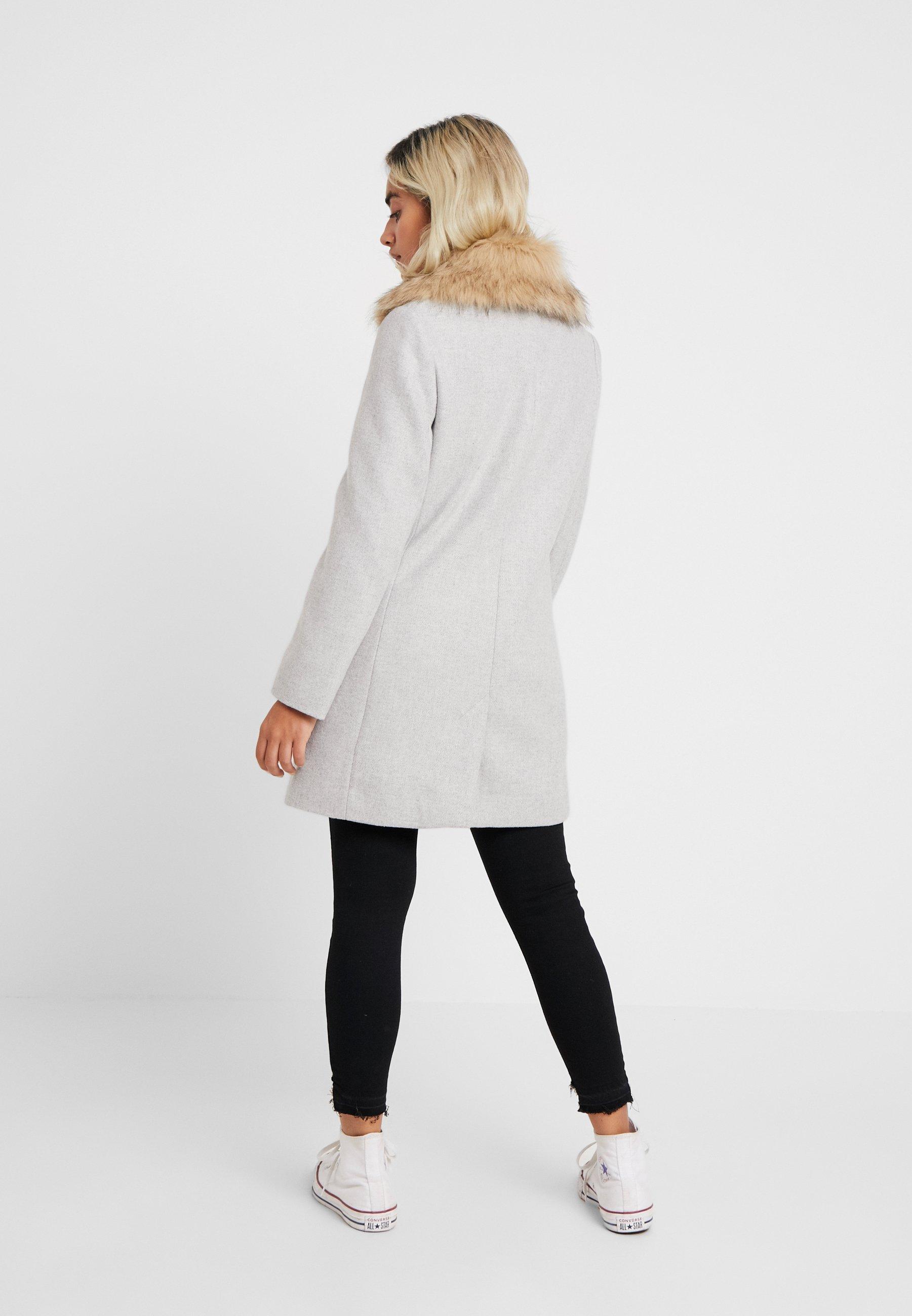 Topshop Petite MONICA COLLAR - Cappotto classico grey