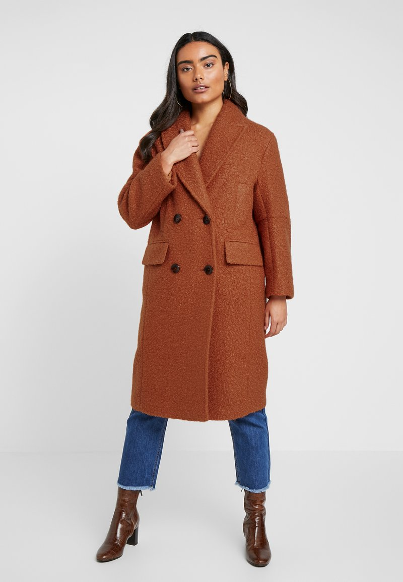 Topshop Petite - KIM BOUCLE - Classic coat - rust