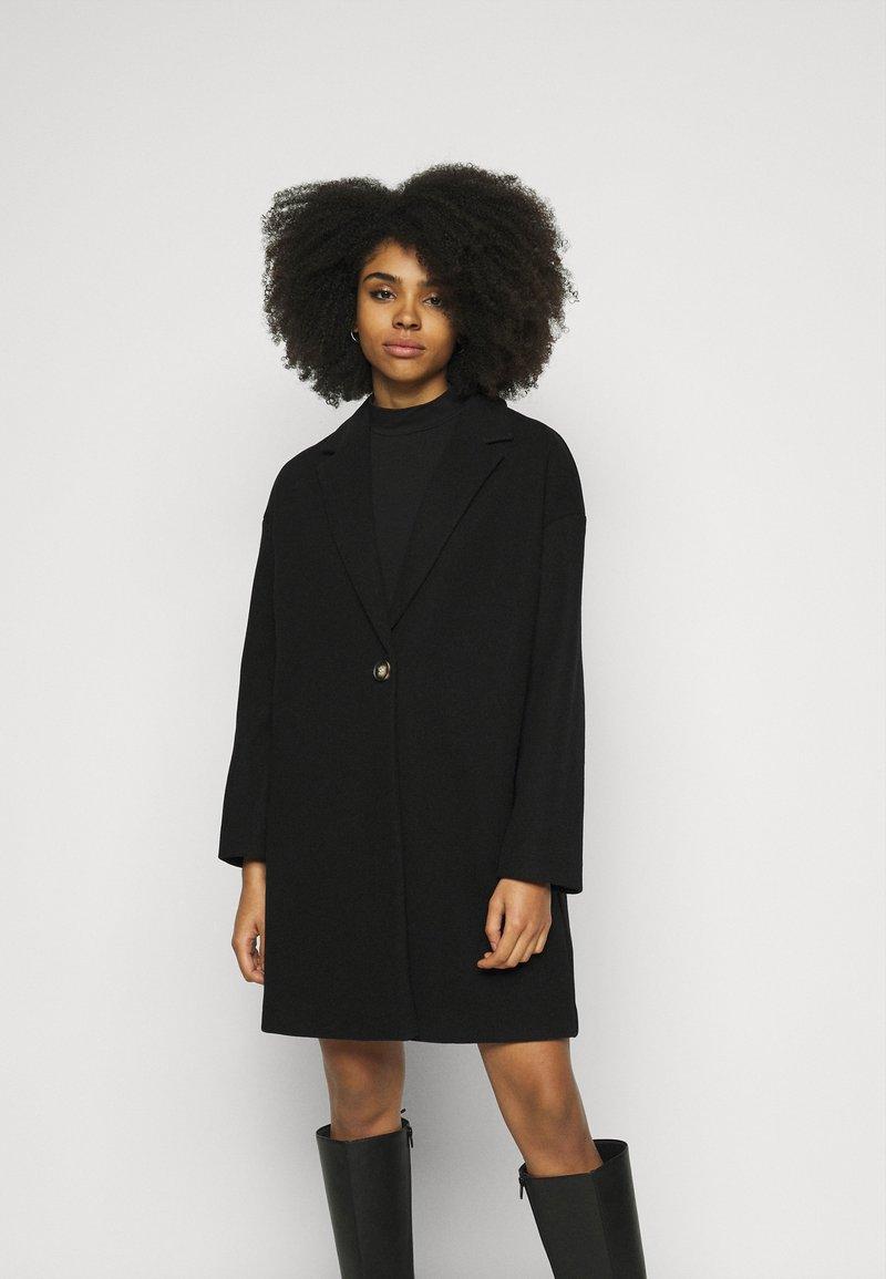Topshop Petite - Classic coat - black