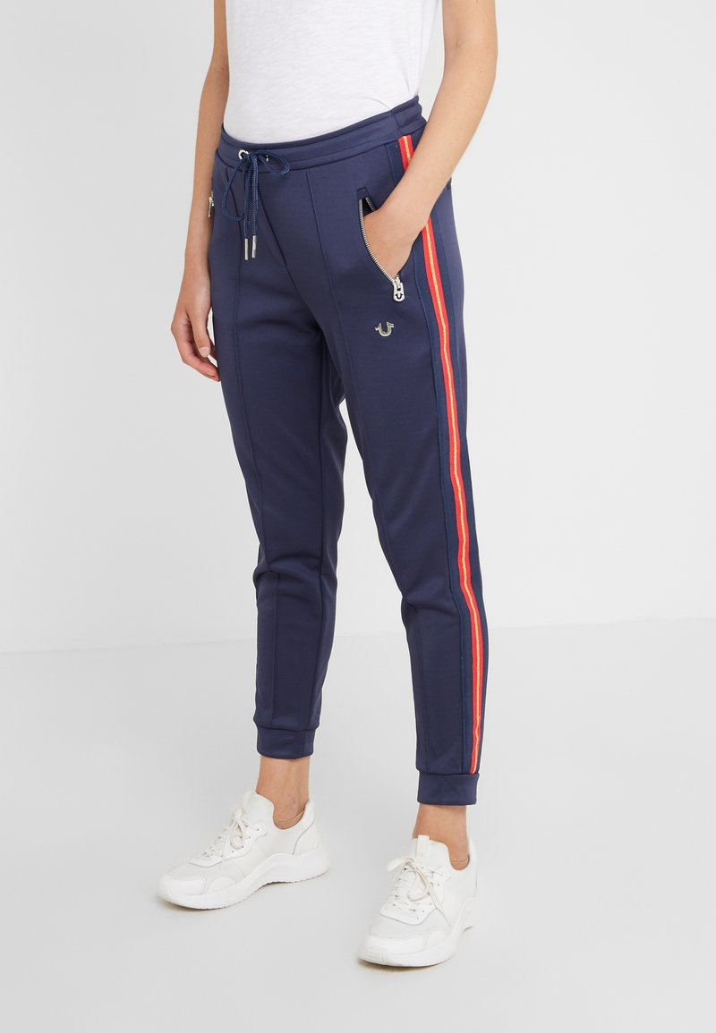 True Religion - PANT STRIPE SOLID  - Pantalon de survêtement - navy