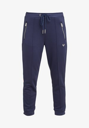 PANT STRIPE SOLID  - Tracksuit bottoms - navy