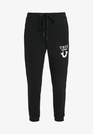 PANTS LOGO PUFFY - Tracksuit bottoms - black