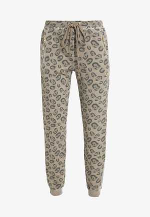 PANTS LEO ALLOVER PRINT - Tracksuit bottoms - beige