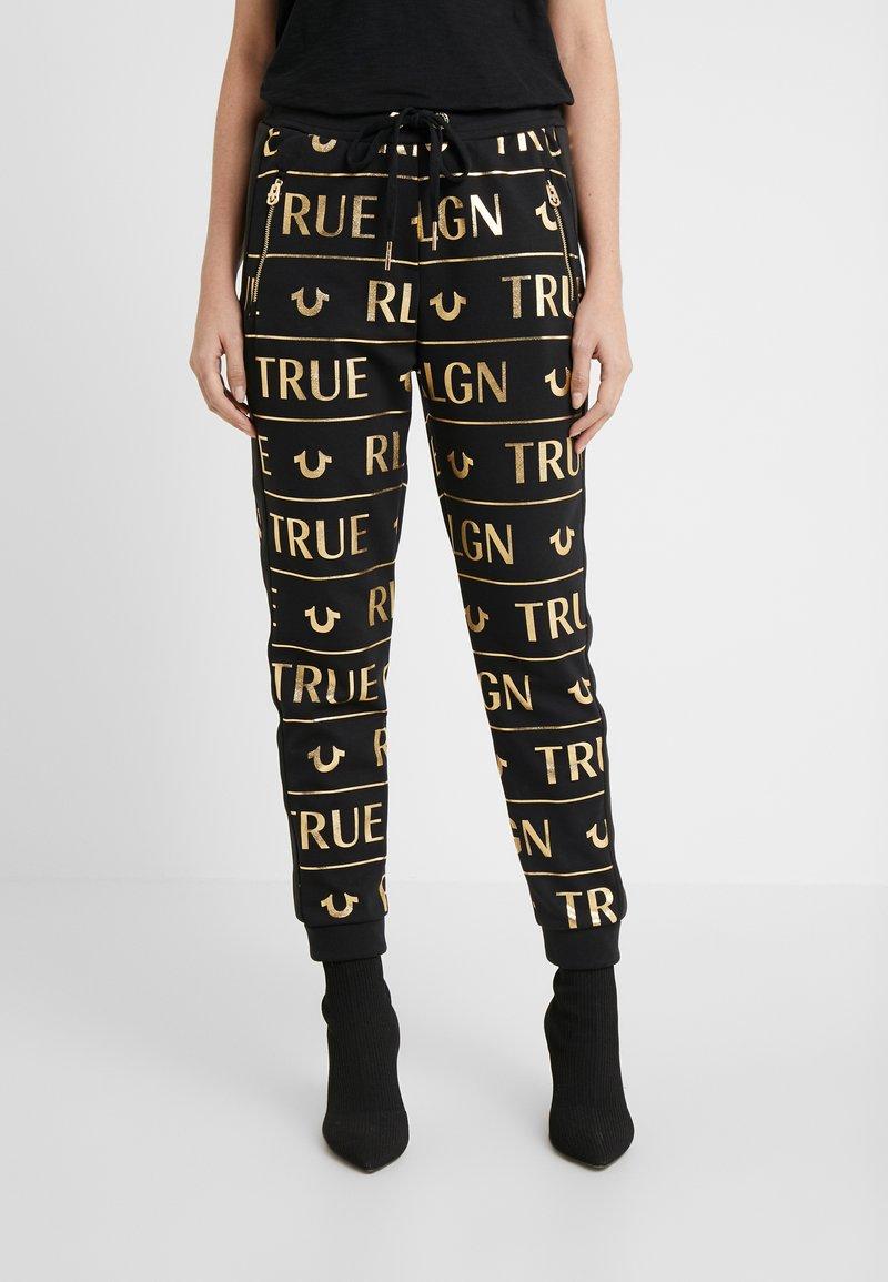 True Religion - PANTS - Tracksuit bottoms - black