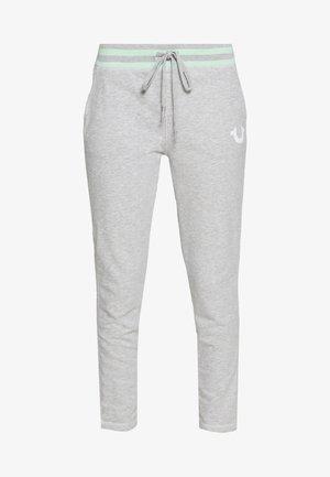 PANT SLIM FLE HORSESHOE - Teplákové kalhoty - grey melange