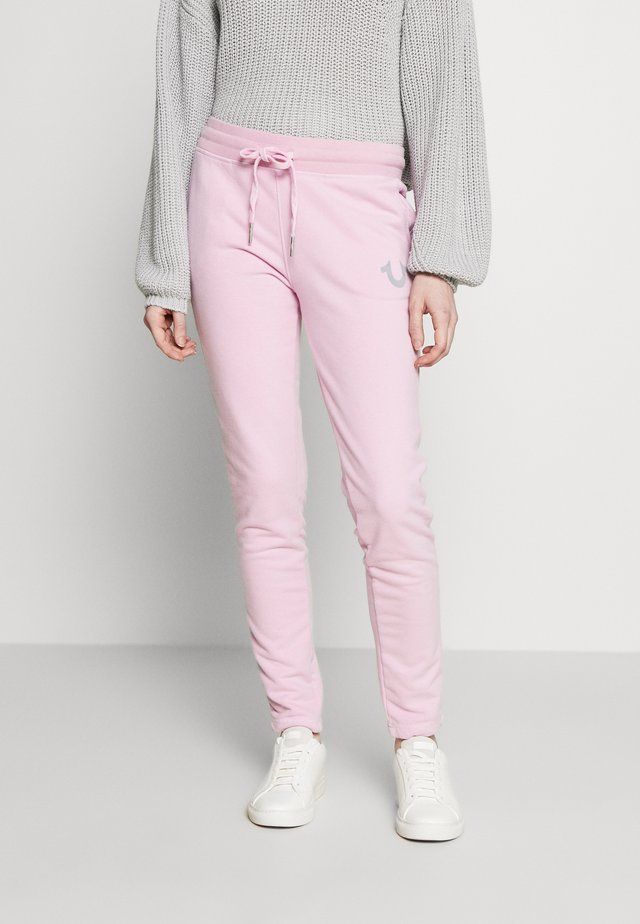 PANT SLIM FLE HORSESHOE - Trainingsbroek - pink