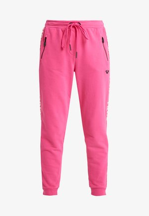 EXCLUSIVE PANT TAPE ON SIDE SEAMS - Tracksuit bottoms - pink yarrow