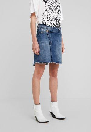 SKIRT - Denim skirt - blue