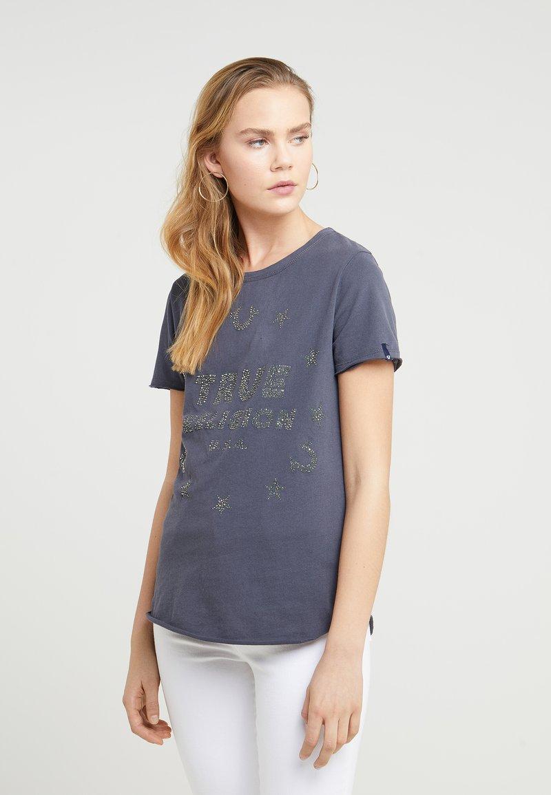 True Religion - CREW  STARS  - Print T-shirt - dark grey