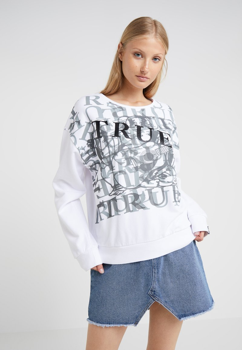 True Religion - PRINTED - Sweatshirt - white