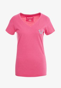 True Religion - NECK REFLECTIVE BERRY - Print T-shirt - pink - 5