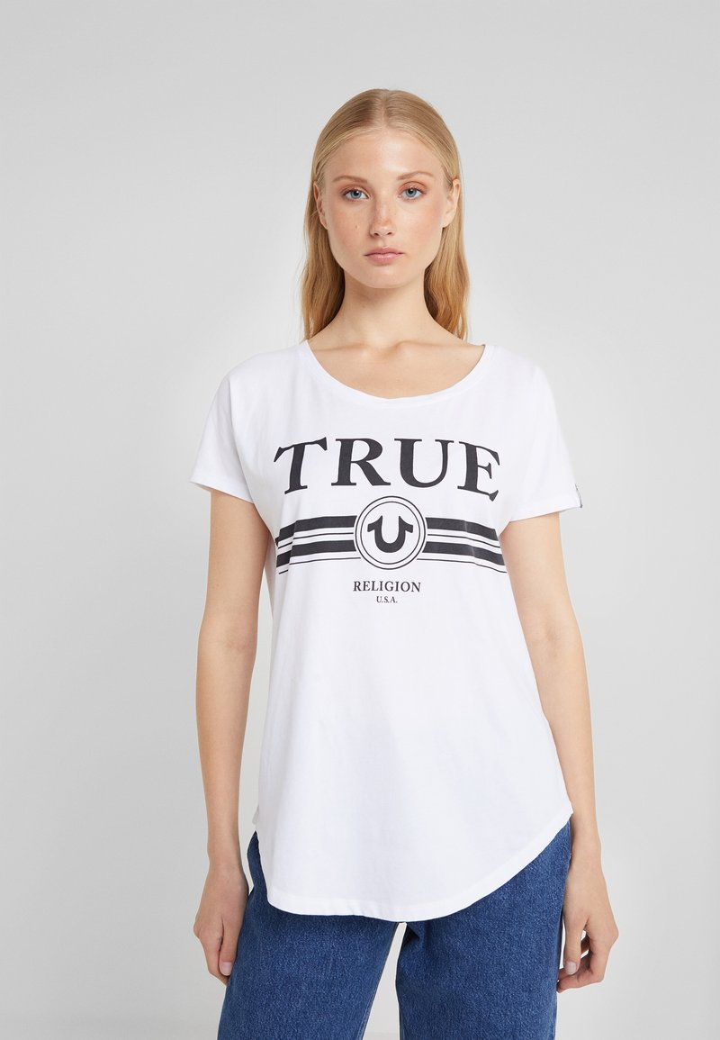 True Religion - BASIC TRUCCI  - Print T-shirt - white