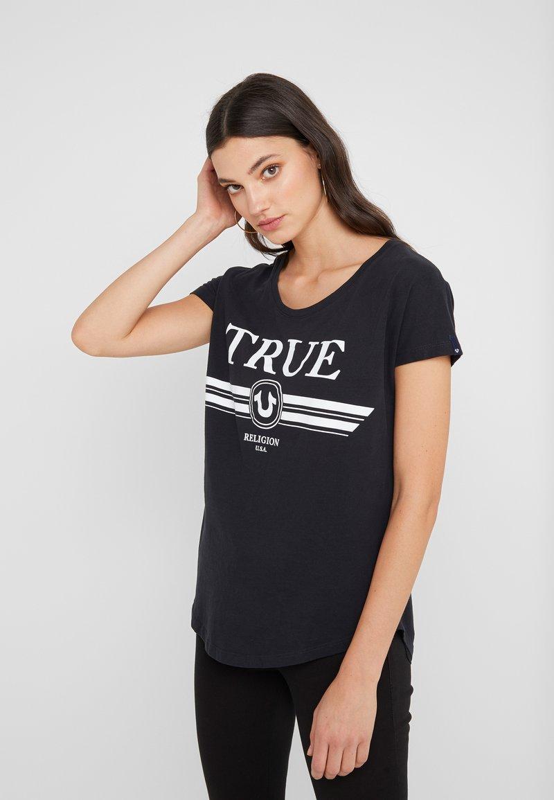 True Religion - BASIC TRUCCI  - Print T-shirt - black