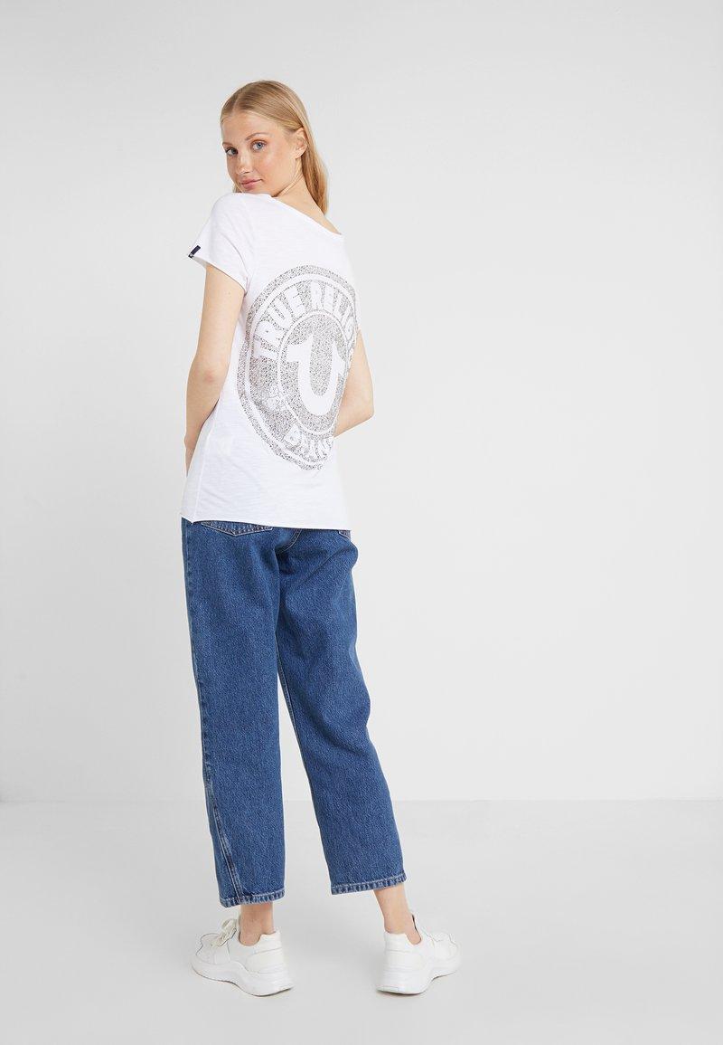 True Religion - CREW  - Print T-shirt - white