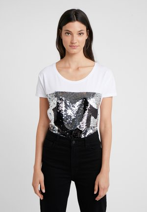 SEQUIN TRUE - Print T-shirt - white