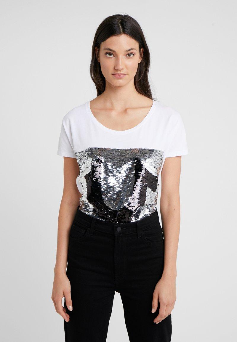 True Religion - SEQUIN TRUE - Print T-shirt - white
