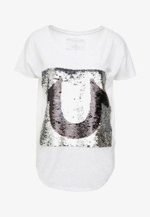 SEQUIN TRUE - Print T-shirt - white