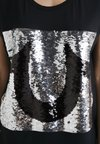 True Religion - SEQUIN TRUE - Print T-shirt - black