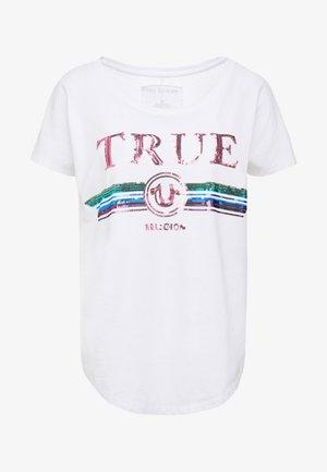 TRUE  - Print T-shirt - white