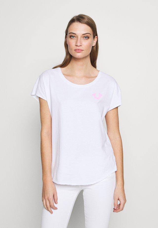 CREWNECK RELAX REFLECTIVE HORSESHOE - Print T-shirt - white