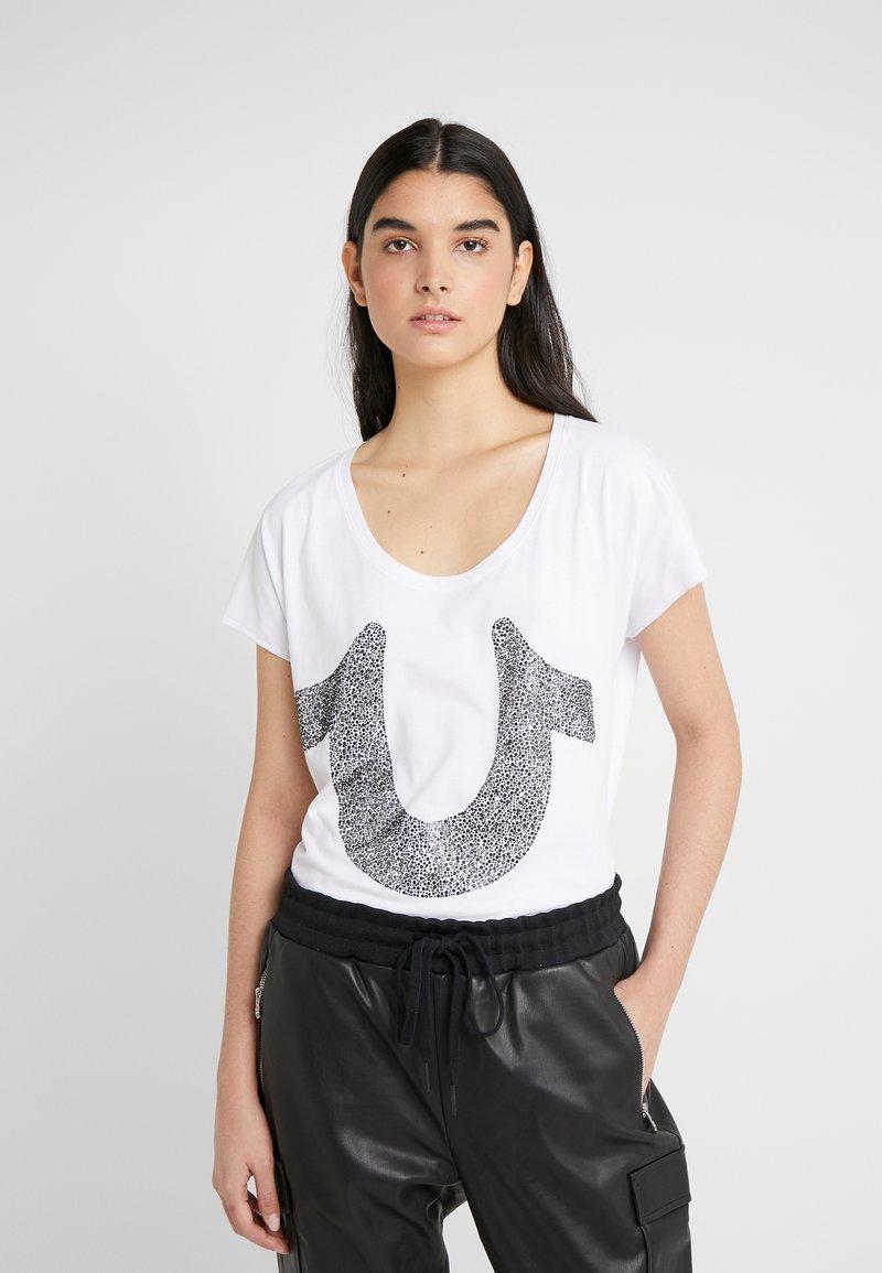 True Religion - CRYSTAL TEE - Print T-shirt - white