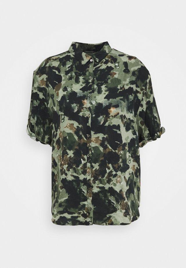 BLOUSSE - Button-down blouse - olive
