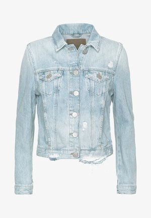 JACKET DESTROYED LIGHT BLUE - Denim jacket - light blue denim