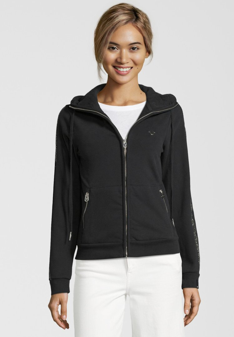 True Religion - Zip-up hoodie - black