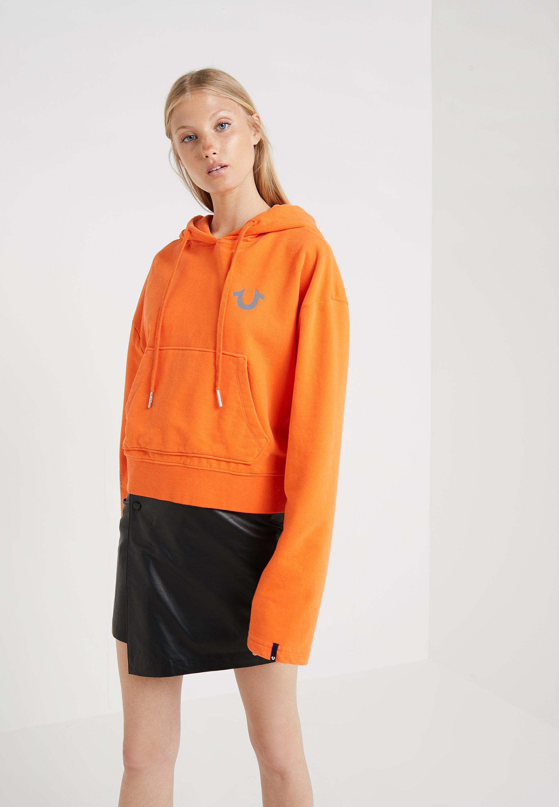 True Religion CROPPED HOODY - Jersey con capucha orange