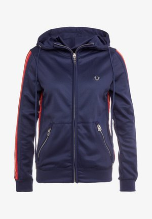 HOODED SOLID - Cardigan - navy