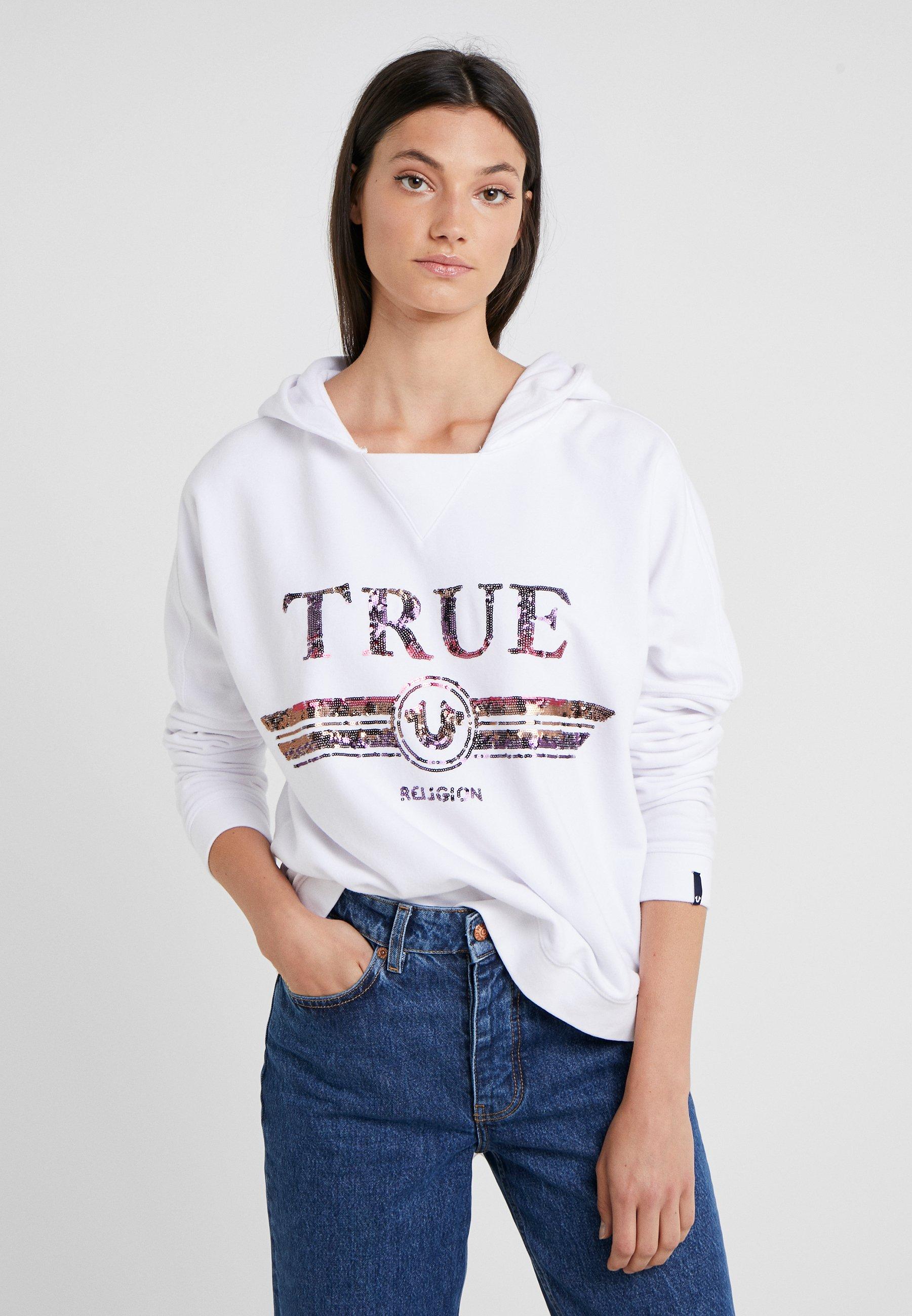 Hoody TrucciSweat True Religion À Capuche White UVzpLqGjSM