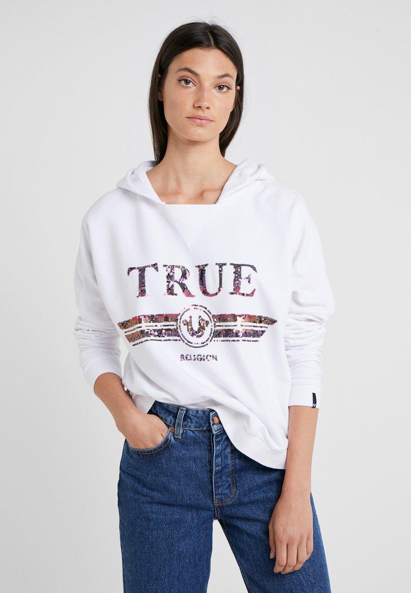 True Religion - HOODY TRUCCI - Hoodie - white