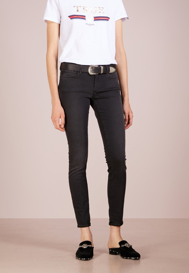 True Religion - HALLE - Jeansy Skinny Fit - light black