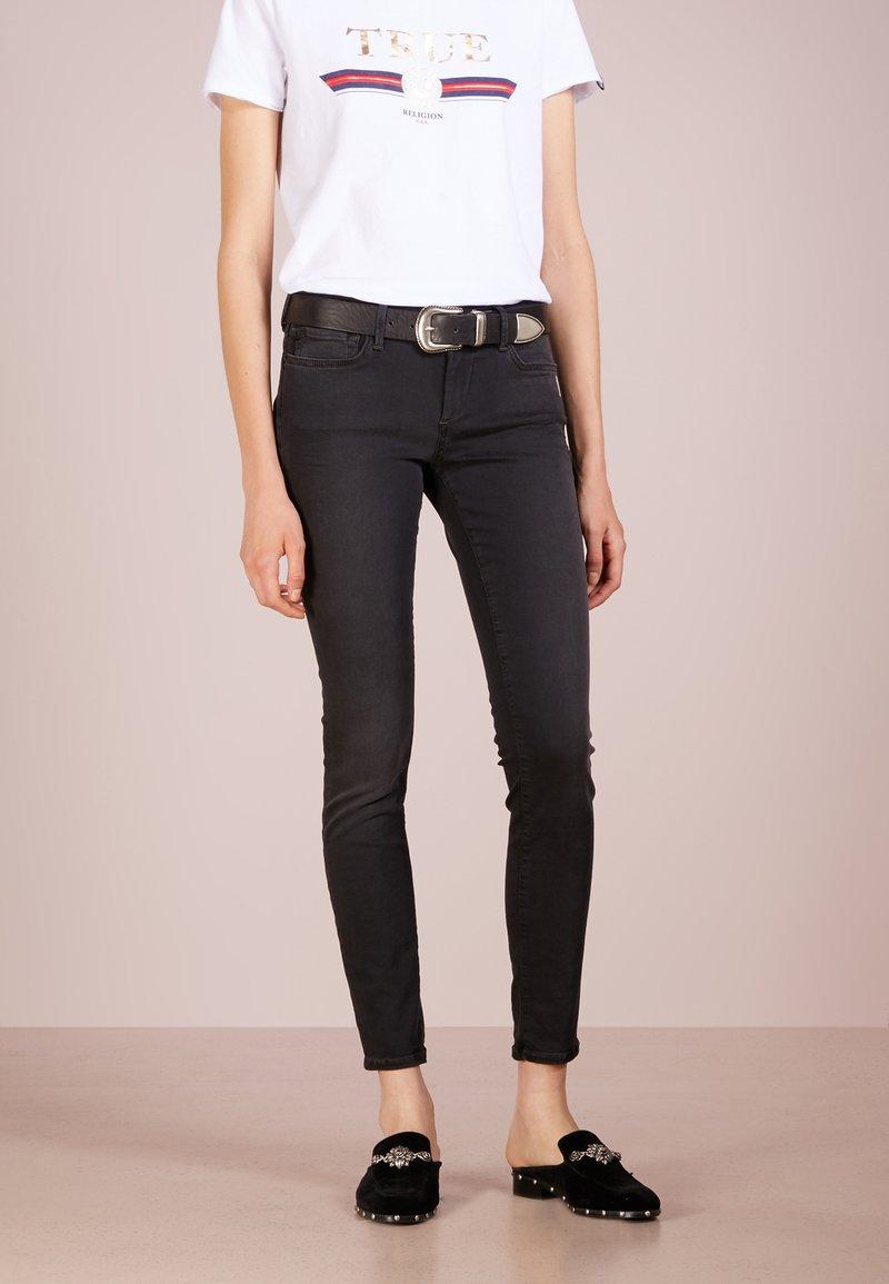 True Religion - HALLE - Jeans Skinny Fit - light black