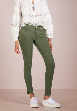 HALLE DYED LONG - Jeans Skinny Fit - olive