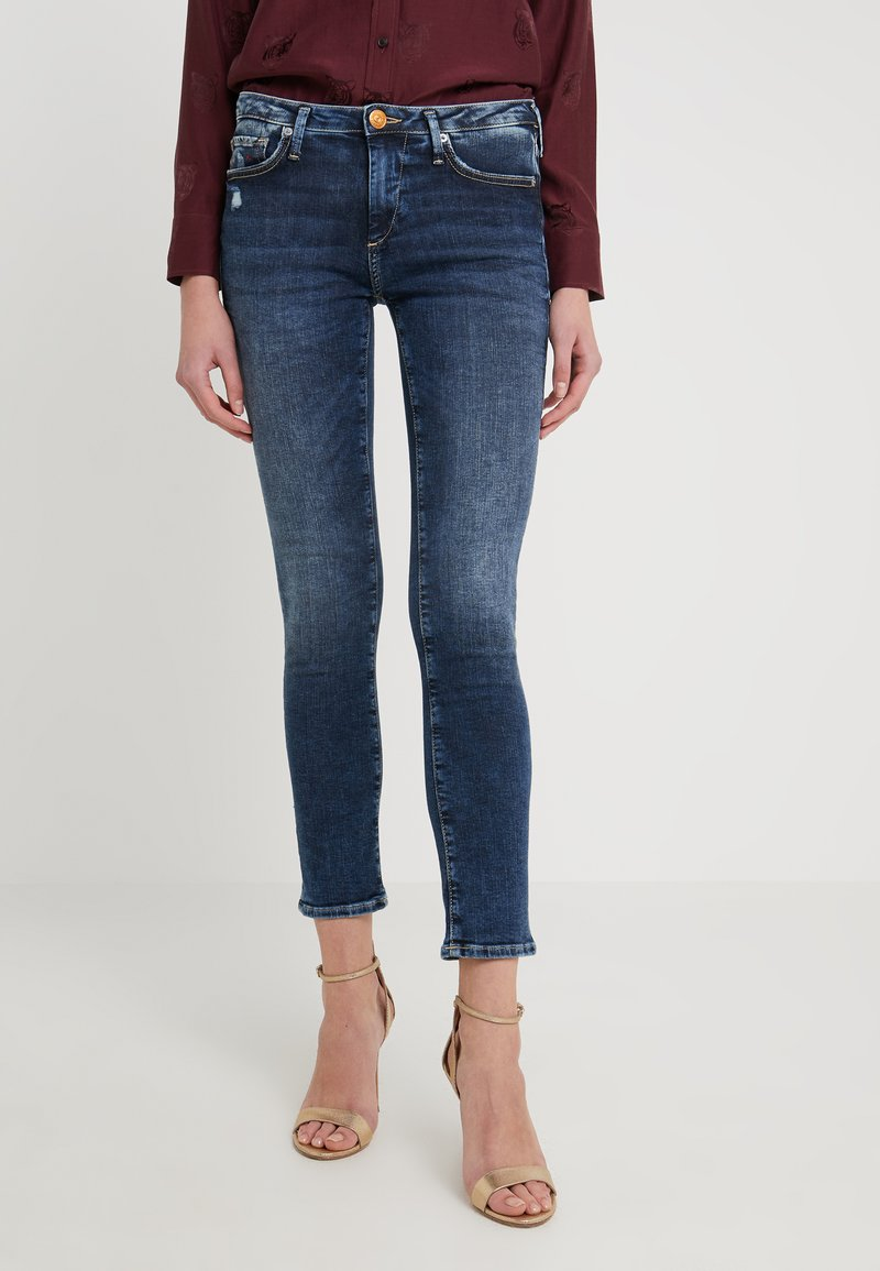 True Religion - NEW HALLE CARBON WASH WORN IN - Jeans Skinny Fit - blue