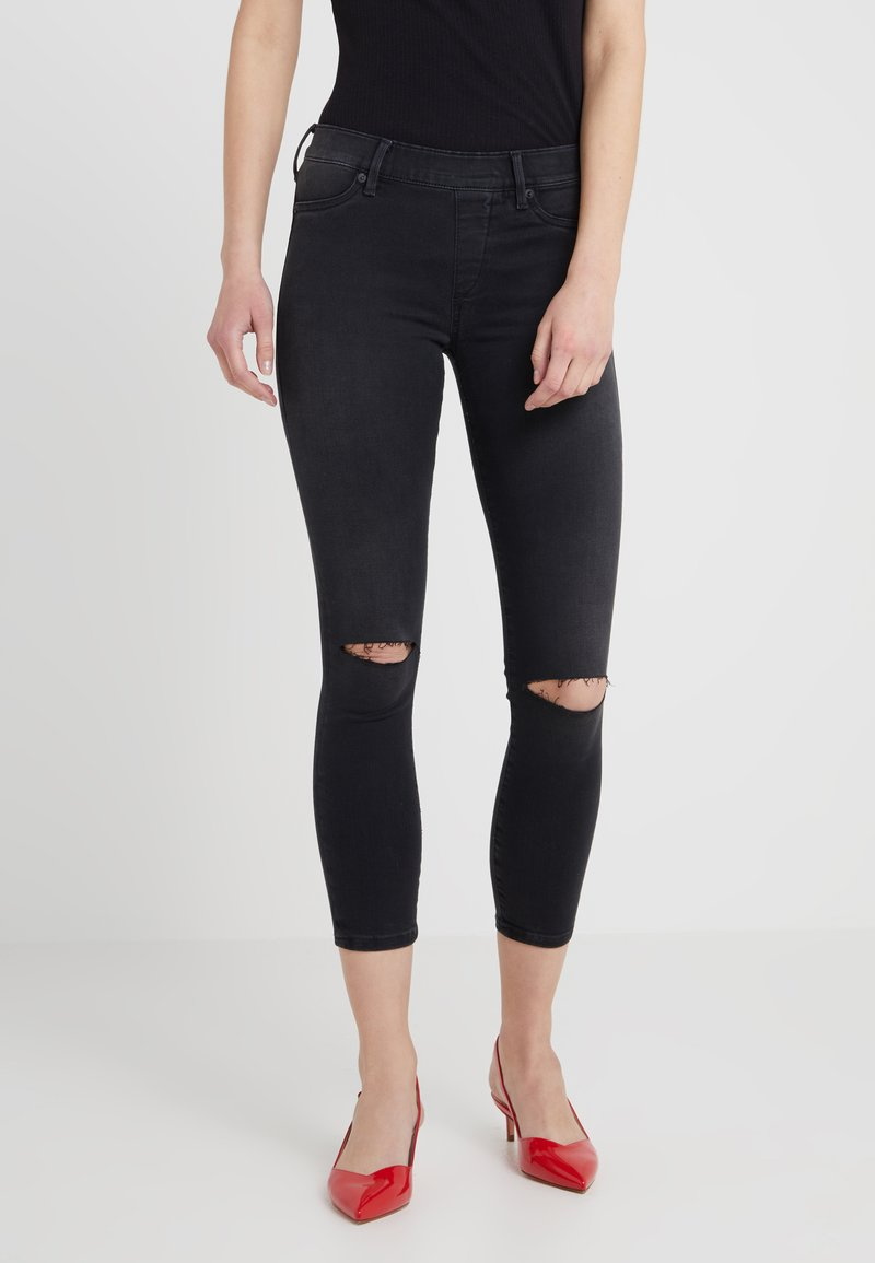 True Religion - KNEE CUT  - Jeggings - black