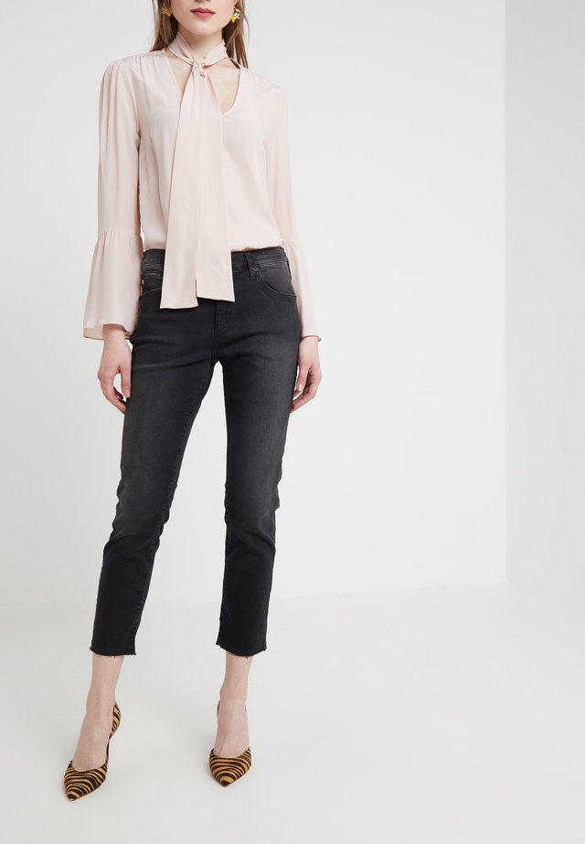 NEW LIV  - Slim fit jeans - black