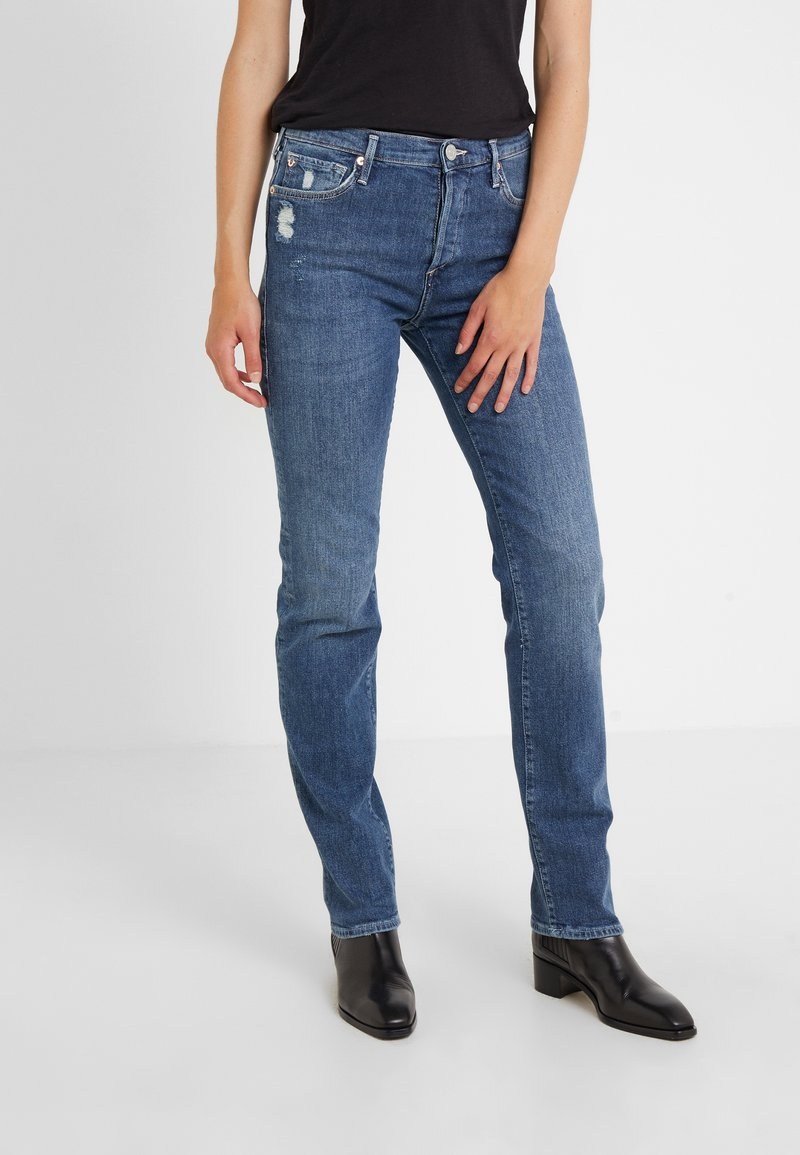 True Religion - HIGHRISE TURNUP  - Jeans a sigaretta - blue