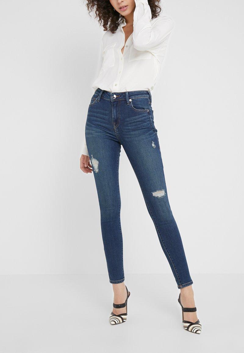 True Religion - HIGH WAIST HALLE - Jeans Skinny Fit - dark haze