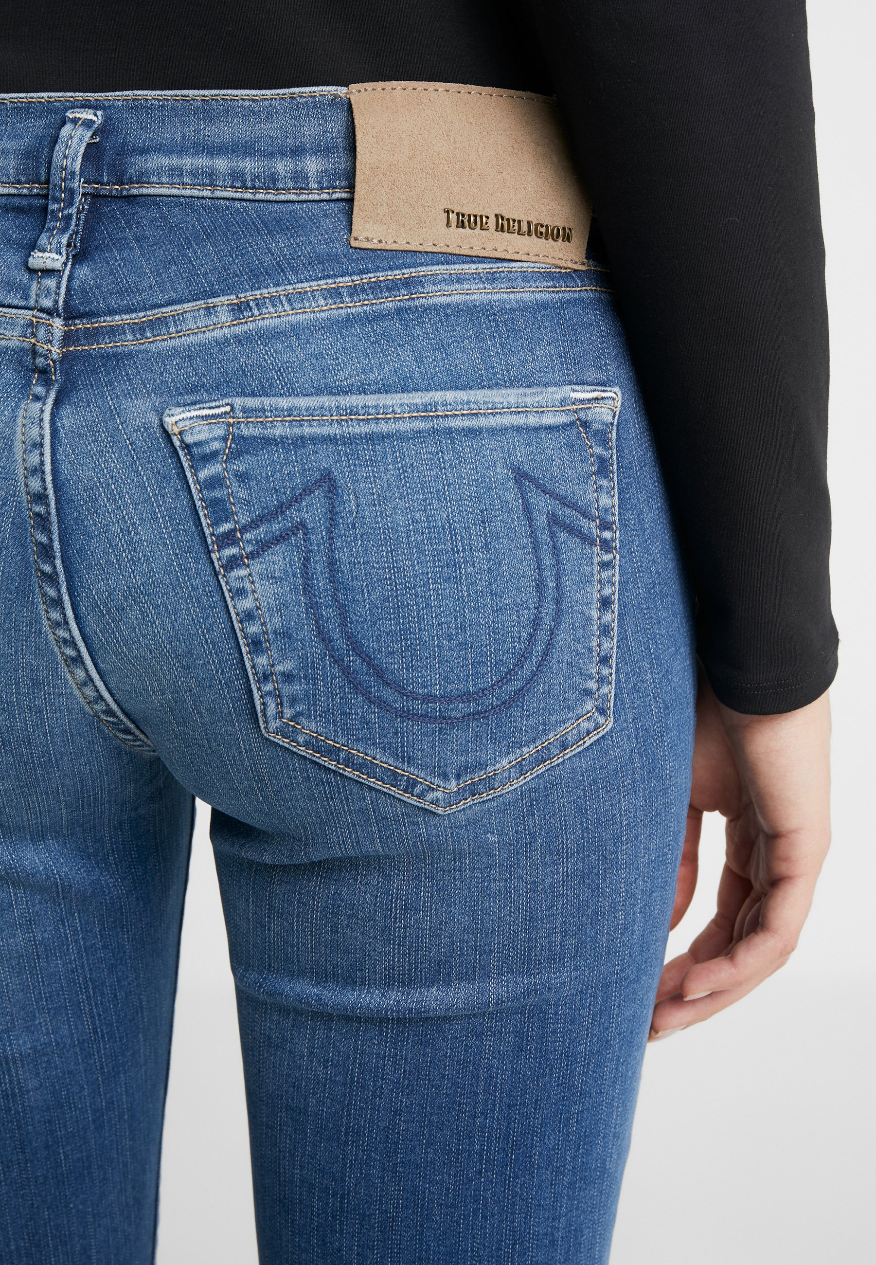 True Religion HALLE - Jeansy Skinny Fit - deep blue
