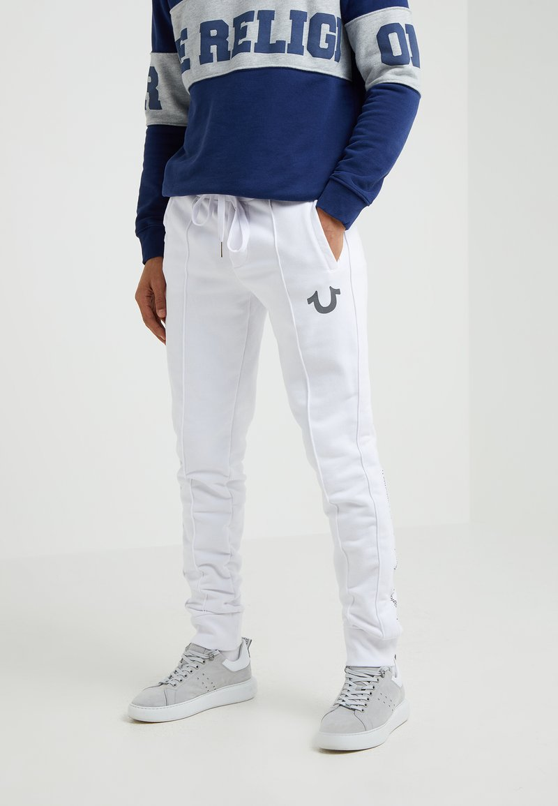 True Religion - REFLECTIVE PANT - Jogginghose - white