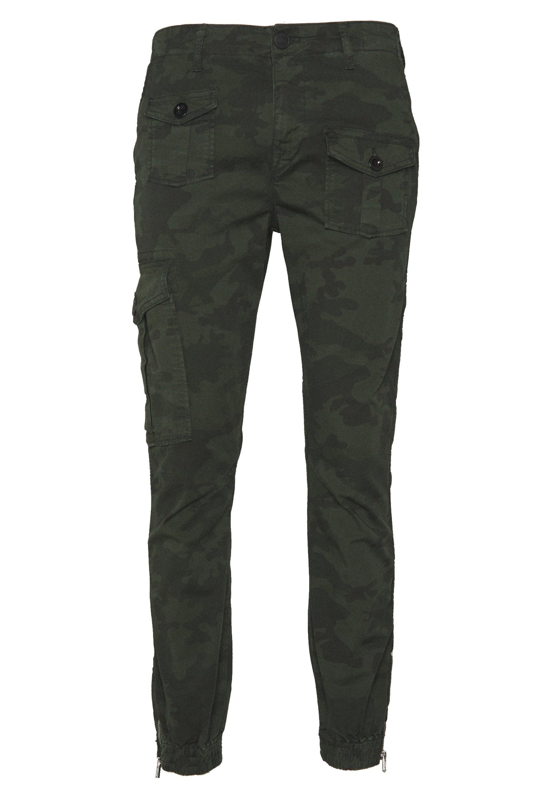 True Religion CAMO - Pantaloni cargo - olive