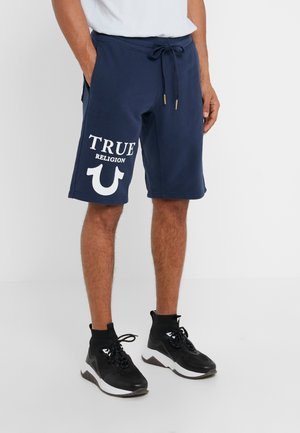 SHORT LOGO PUFFY - Teplákové kalhoty - dark blue