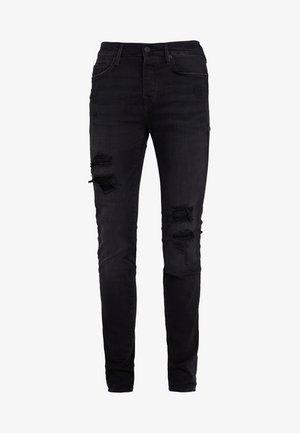 ROCCO TRUEFLEX DESTROYED - Jeans slim fit - black