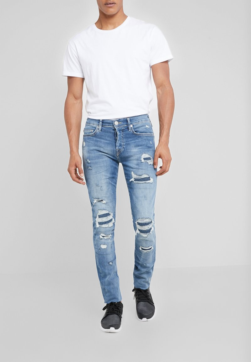 True Religion - ROCCO - Jeans slim fit - detroy repair patch