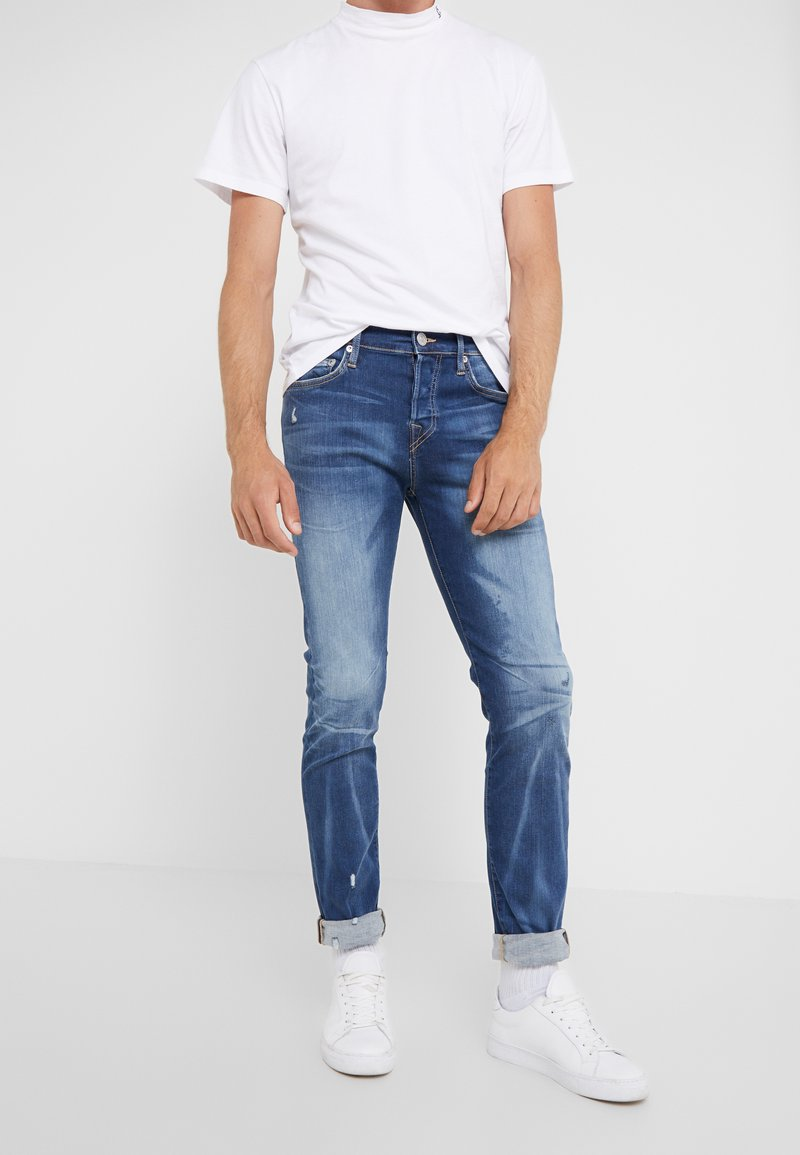 True Religion - ROCCO SUPER STRETCH - Slim fit jeans - blue