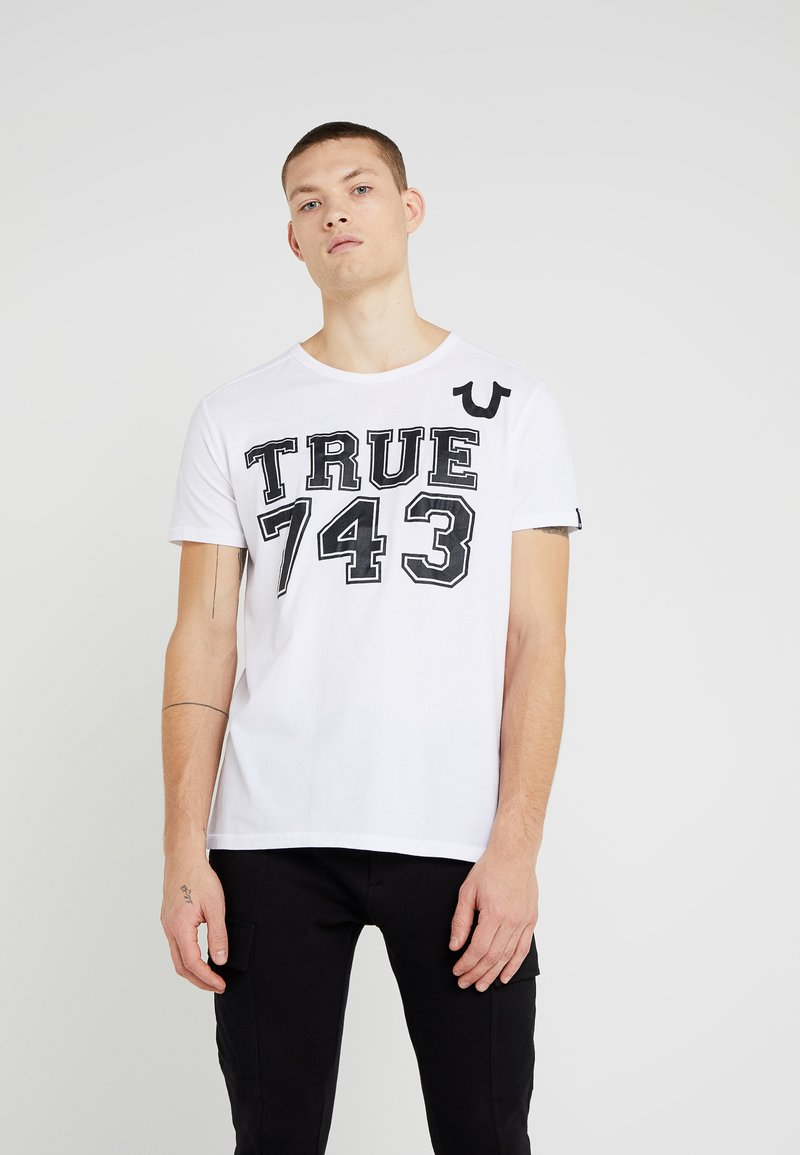 True Religion - CREW - Print T-shirt - white
