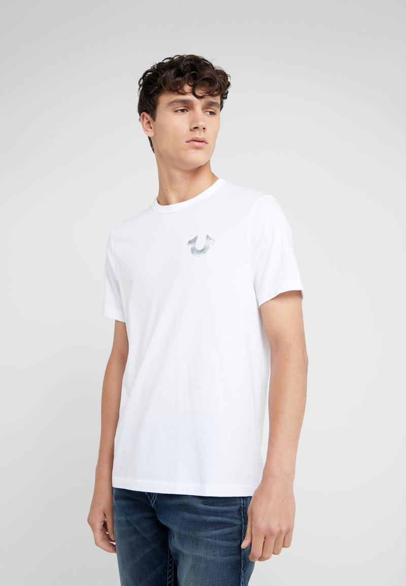 True Religion - SEASONAL PUFF TEE - T-shirt med print - white